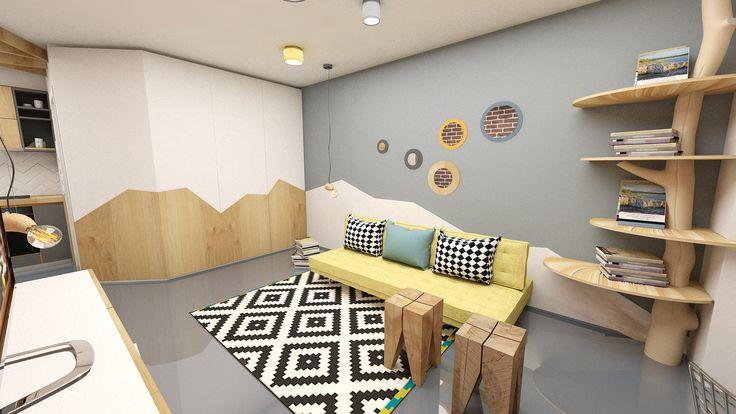 Wood design with epoxy floor in Bucharest