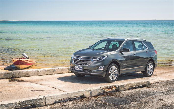 Download wallpapers Holden Equinox, 2018, LTZ, SUV, new Crossovers, Australia, gray Equinox, 4k