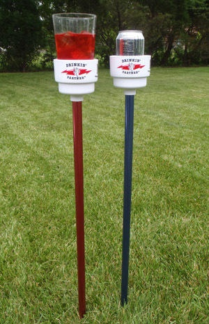 Drinkin Partner Drink Holders- the ultimate drink holder for yard games and tailgating. Comes in 8 fun colors!