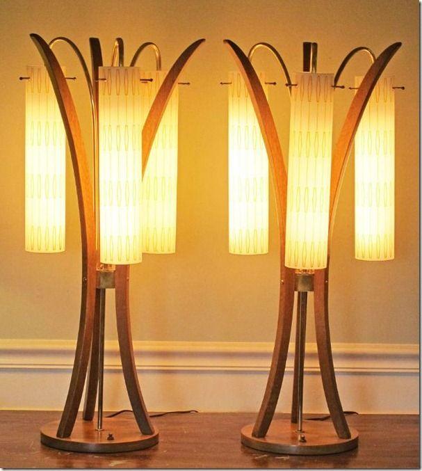 Vintage Mid Century Modern German Lamps