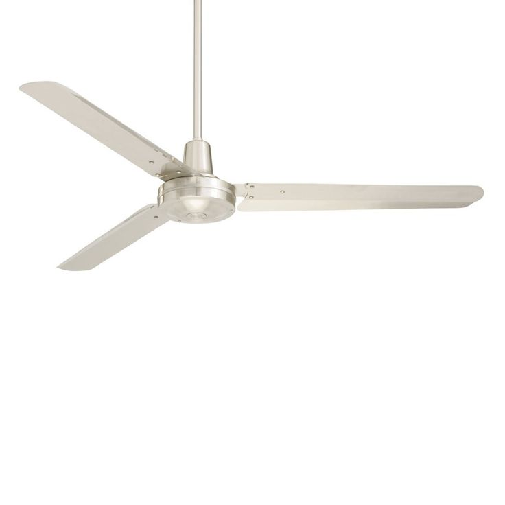 Shop Cascadia Lighting 56-in Brushed Steel Downrod Mount Indoor Commercial Ceiling Fan (3-Blade) at Lowes.com