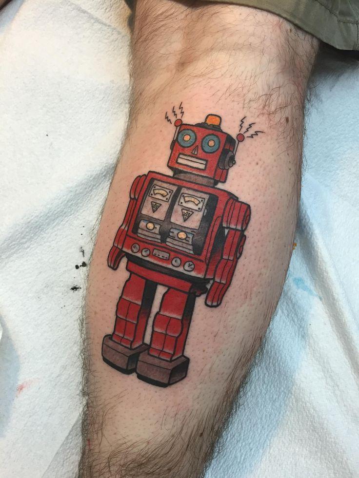 Tin Robot by Tyson Ardnt, Elm Street Tattoo (guest artist) Dallas, TX