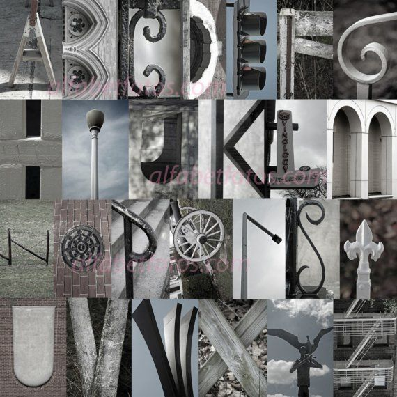 Alphabet Letter Photography! I absolutely love this!:) i got ideas from this for my own letter art photography:)))))