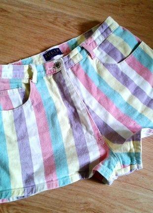 Kup mój przedmiot na #Vinted http://www.vinted.pl/kobiety/szorty-rybaczki/5386302-kolorowe-szorty-jeansowe-z-wysokim-stanem