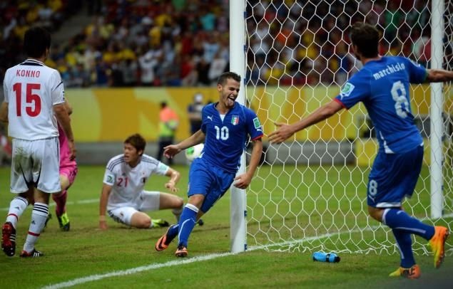 Italy 4 Japan 3 in 2013 in Recife. Substitute Sebastian Giovinco scored after 86 minutes to make it 4-3 in the Confederations Cup Group A classic.