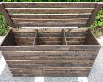 Laundry Hamper, Basket, Farmhouse, Rustic, Crate, Three Compartments, Finished or Unfinished
