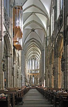 Gothic east end of Cologne Cathedral ~ #GothicArchitecture - Wikipedia