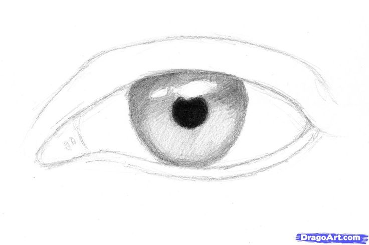 how to sketch an eye step 3