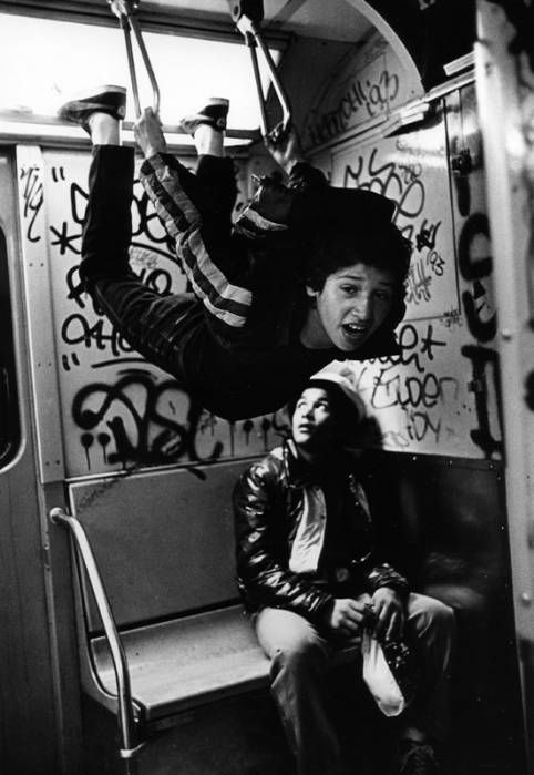 NYC subways 1980s - anything goes! -- & it ususally did!