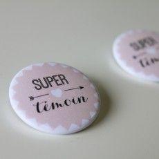 Badges mariage - super témoin - modèle garçon (par 2) - Modern Confetti