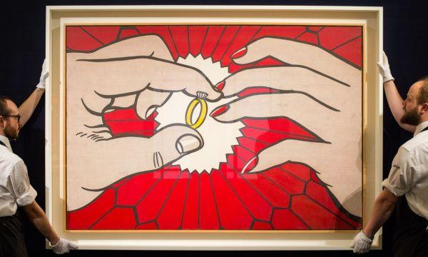 Рой Лихтенштейн. Кольцо (Помолвка), 1962 Эта вещь будет представлена на ближайших торгах Christie's.  Эстимейт - 50 млн долларов. По ссылке - о других тяжеловесах майских аукционов - от Ван Гога и Моне до Пикассо и Люсьена Фрейда.