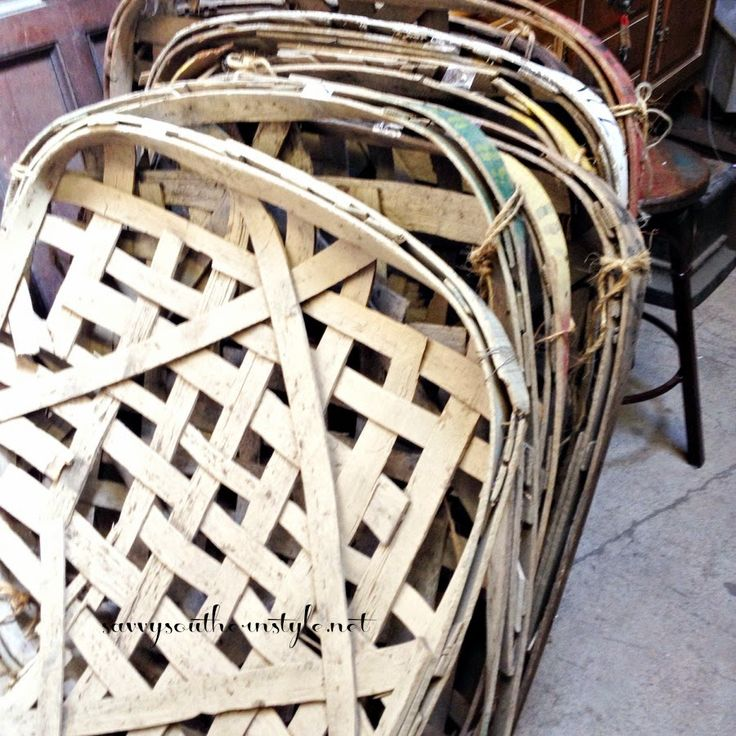 Cheapest tobacco baskets I've ever seen. $19 to $25 at The Tobacco Barn in Asheville, NC. info on blog
