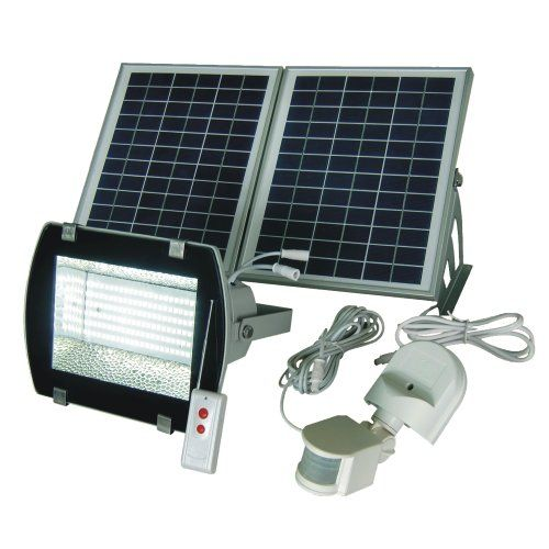 Solar Goes Green SGG-F156-2R Super Bright 156 SMDs Solar Powered Flood Light with Remote Control