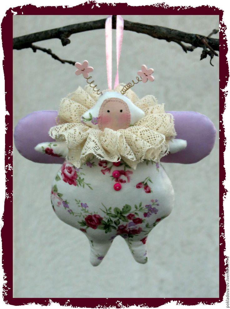 Купить Аукцион. Игрушка в стиле Тильда Жук Жужалица - розовый, игрушка ручной работы