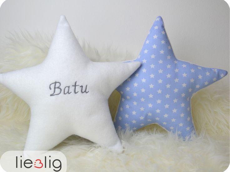 Namenskissen - Namenskissen Stern - ein Designerstück von lieblig bei DaWanda