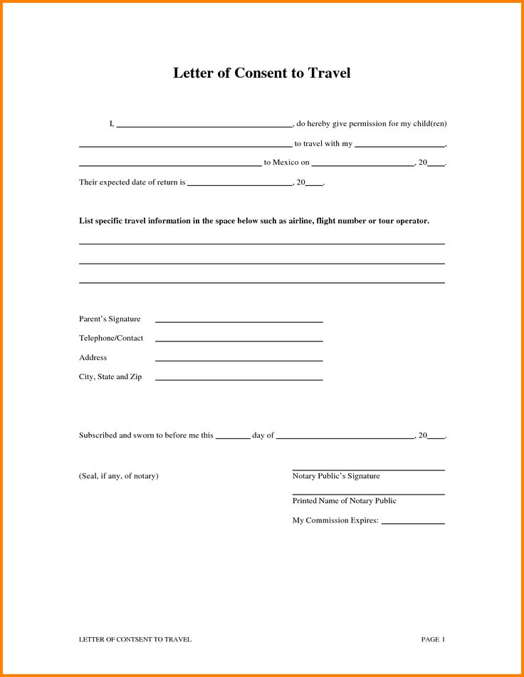 The 25+ best Medical consent form children ideas on Pinterest - passport consent forms