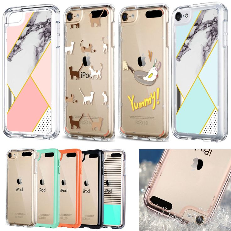 Crystal Clear Back Shockproof Bumper Hard Case Cover for iPod Touch 5 6th Gen #ULAK