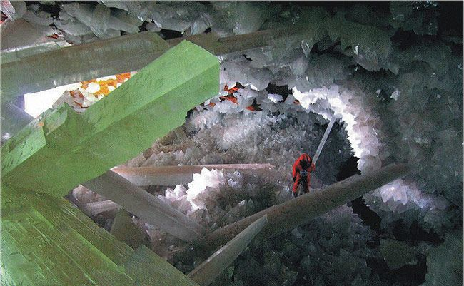 Cave of Crystals, Naica mine, Chihuahua, Mexico