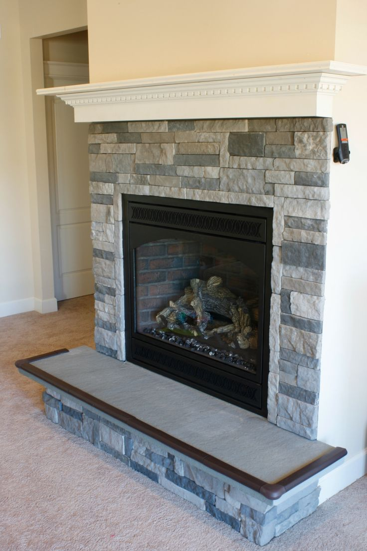 DIY Fireplace bluestone hearth Home ideas Pinterest