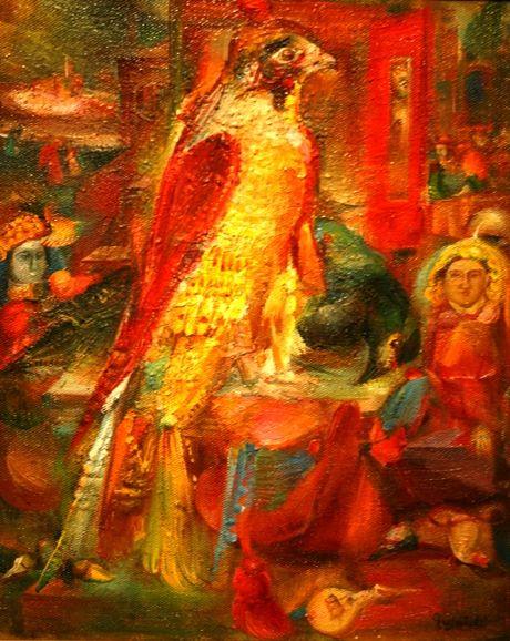 Гаянэ Хачатурян «Красное зеркало и птицы» 1985
