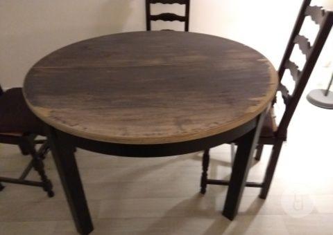 donne table ikea ronde avec rallonge