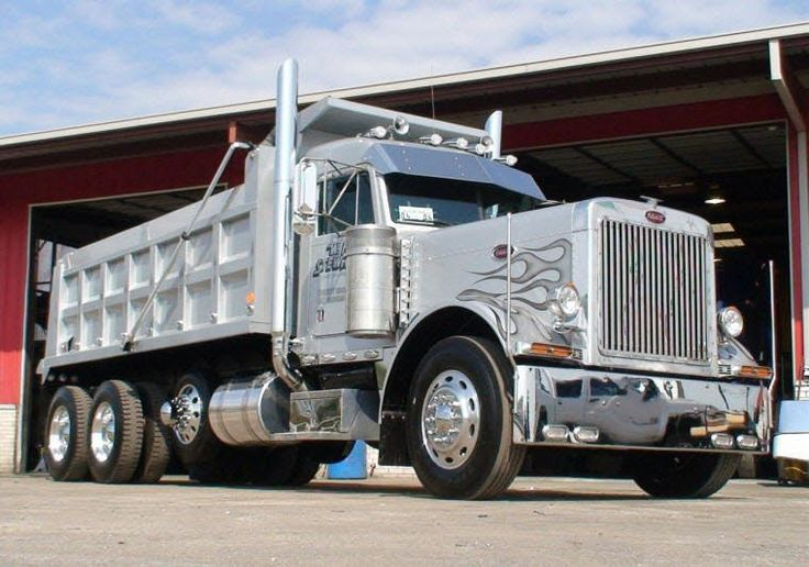 Peterbilt Semi Tri Axle Truck : The best peterbilt dump trucks ideas on pinterest