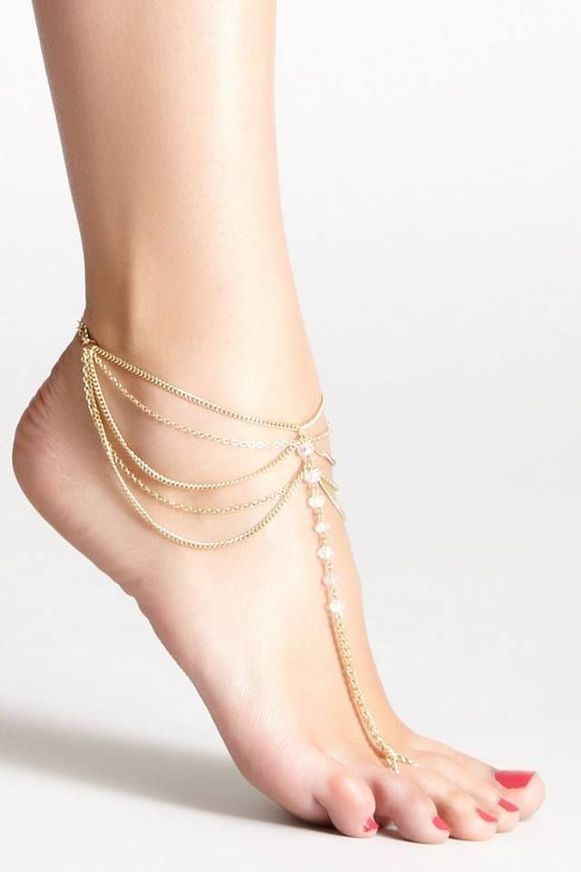 """NEW STAR CRYSTAL CHARM 9/"""" Fancy OPEN link 14K GOLD EP Anklet Ankle Foot Chain"""