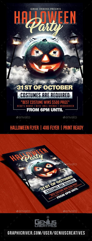 Halloween Party Flyer Template PSD Halloween flyer