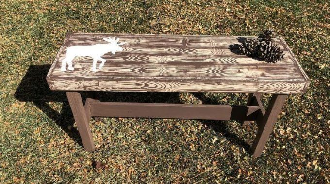 Admirable Upcycled Thrift Store Wooden Bench Patio Thrifting Old Evergreenethics Interior Chair Design Evergreenethicsorg