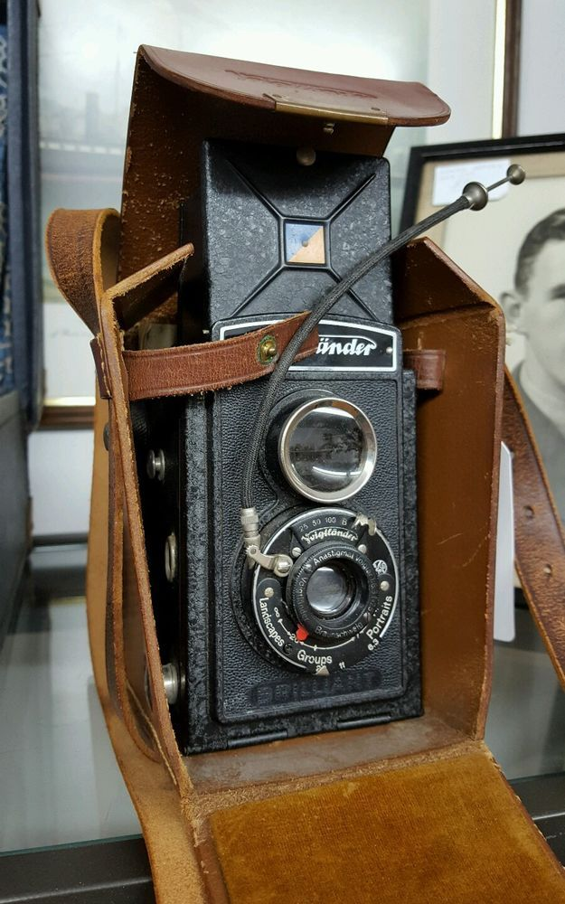 Vintage Voigtlander Brilliant TLR Camera in Case With Instructions c1932 | eBay