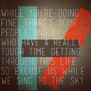 Love this song!!! Twenty One Pilots - Holding Onto You<<< um this isn't holding onto you...