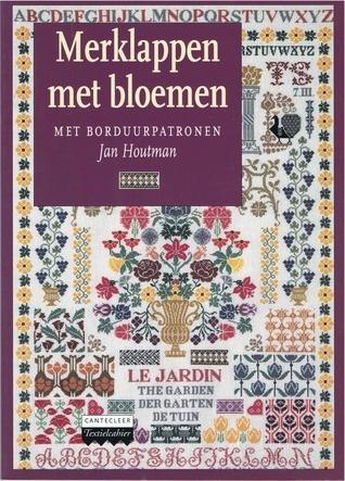 Merklappen met Bloemen: met borduurpatronen