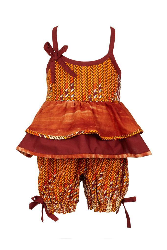 Ootsey Cutesy Price: £25.00 Product Code:SS-IP- Description: Ootsey Cutsey is just that, too cute. This is a 2 peice summer top and shorts set with lovely detailing. Made with 100% cotton in mixed African prints.