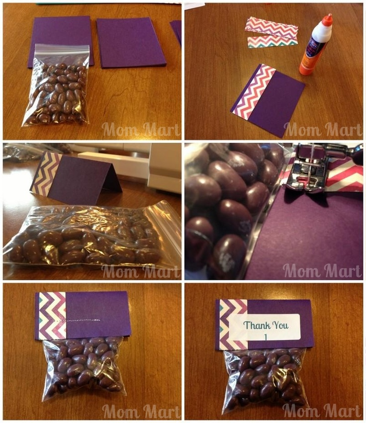 DIY Purple Modern Baby Shower Party Favors