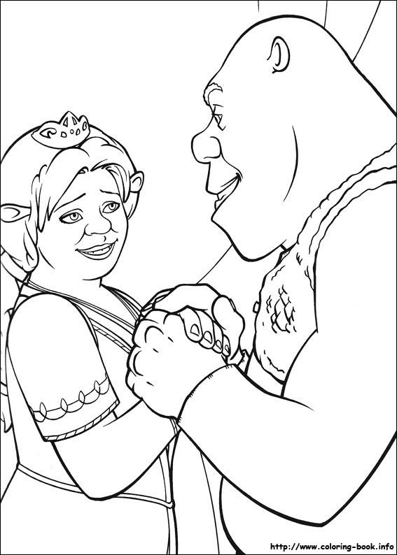 74 best Coloring Pages Shrek images on Pinterest Shrek