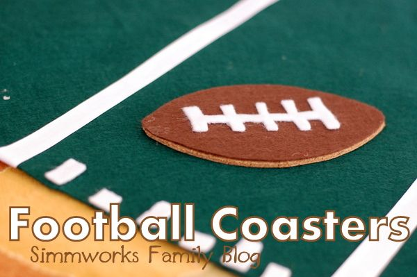 FInd out how easy it is to make these DIY Football Coasters and score big at your tailgating party. All you need are a few simple supplies!