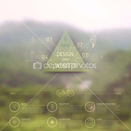 вектор веб и шаблон мобильный интерфейс. корпоративные Дези сайт — Стоковая иллюстрация #39895621