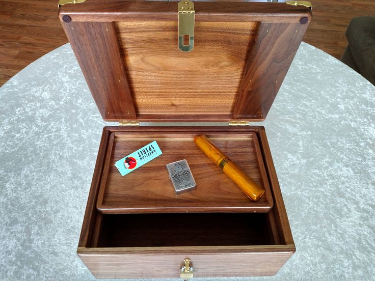 Mega Stash Box and Rolling Tray combo wood box with lid