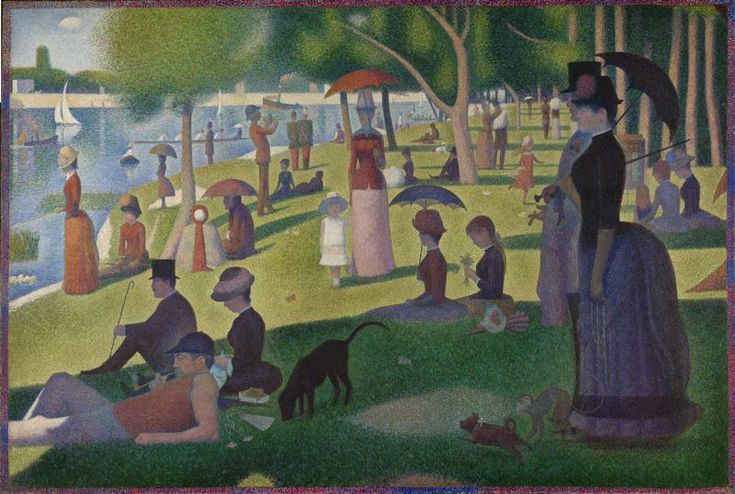 A Sunday Afternoon on the Island of La Grande Jatte - georges seurat - 1884-86 - art institute of chicago. if you are ever anywhere near chicago, go sit in a room with this painting for 20 minutes. your soul will thank you.