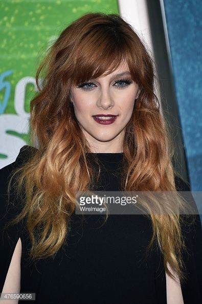 Actress Aubrey Peeples attends the 2015 CMT Music awards at the Bridgestone Arena on June 10, 2015 in Nashville, Tennessee.