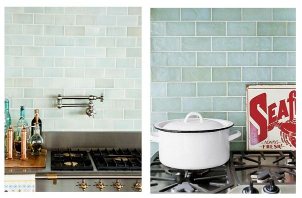 Variation in subway tile color -- nice will all white cabinets and solid color countertop.