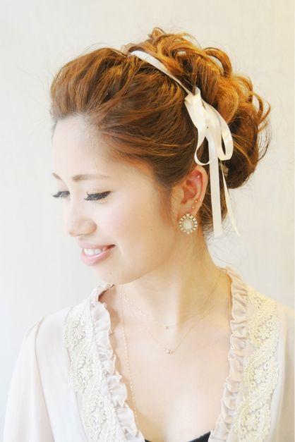 もこもこルーズアップ☆結婚式、2次会に♪ | 元町・石川町の美容室 ... 結婚式 二次会 ブライダルウェディングパーティーのヘアアレンジ ヘアメイク ヘアセットや着物(振袖 袴 浴衣留袖など)の着付けもお任せください。