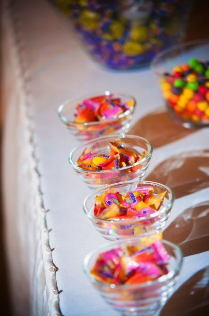 Candy bar at reception - by Destiny Photography