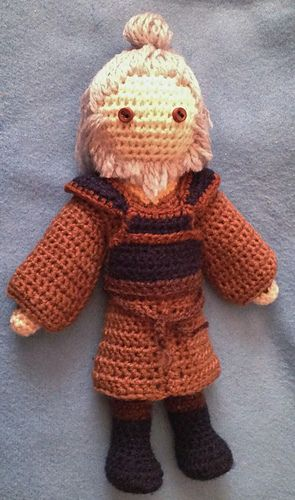 """Uncle Iroh - free """"Avatar, the Last Airbender inspired crochet pattern by Becky Ann Smith."""