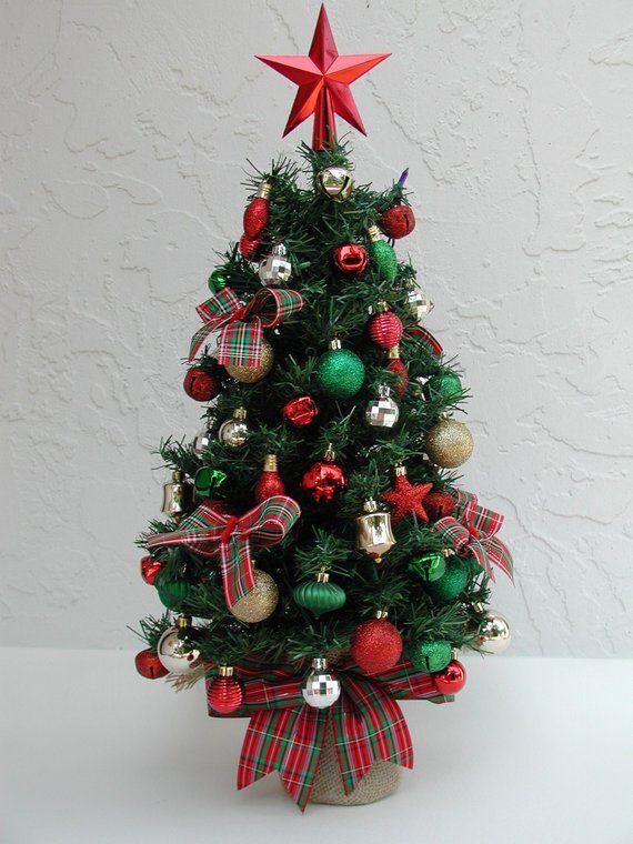 Tabletop Christmas Tree, Miniature Tree, Fully Decorated Tree, Tree