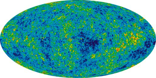 9 year WMAP image of the cosmic microwave background radiation (2012).[72][73] The radiation is isotropic to roughly one part in 100,000.[74]
