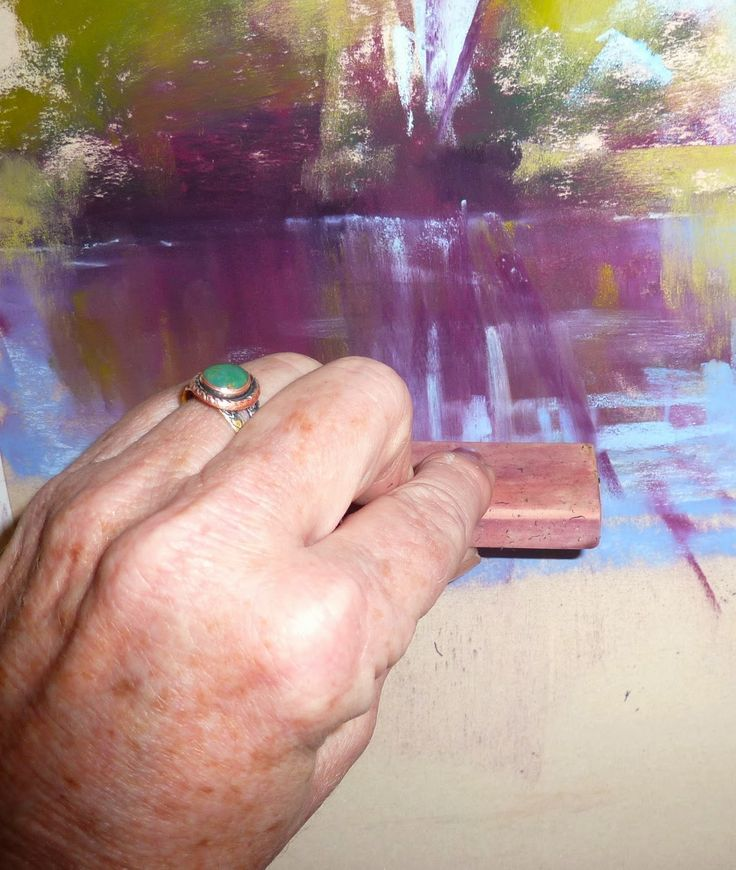 Painting My World: A Magic Trick for Painting Reflections with Pastels