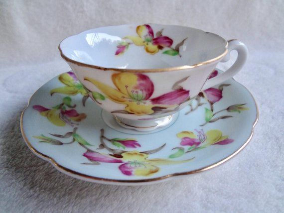 Vintage Jyoto China Made In Occupied Japan Teacup And Saucer Tea