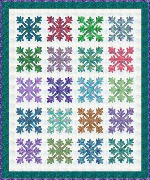 = free pattern = Hawaiian Seas quilt, 88  x 106, including applique template, at Robert Kaufman Fabrics - Artisan Batiks
