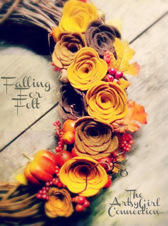 The ArtsyGirl Connection: Fall Crawl ~ D1.. {Fall Felt Flowers}Fall Felt, Autumn Ideas, Fall Thanksgiving, Autumn Breeze, Fall Wreaths, Flower Template, Flower Wreaths, Felt Flowers, Autumn Decorations